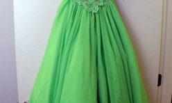 Lime Green Dress with Beaded Bodice Size Youth 8