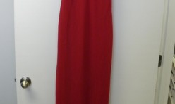 Sleek Red dress with Skinny straps Size 14