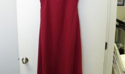 Red dress with bodice detail and multi-layer skirt Size 10