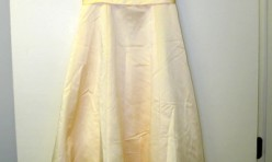 Yellow Girl's Dress with Sheer Tank Overlay and Flower Detail Size Youth 10