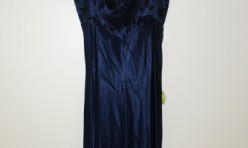 Navy dress with velvet flower bodice Size 3/4
