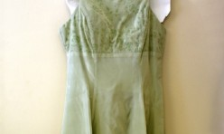 Green Dress with Velvet Flower Detail Size 5/6