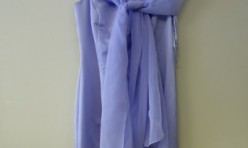 Lavender Satin dress with detachable sheer sash Size 4
