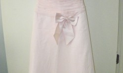 Baby Pink tea length with bow - Size ?