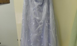 Light blue strapless beading a-line - Juniors Size 15