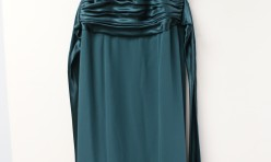 Davids Bridal Emerald floor-length Size 2