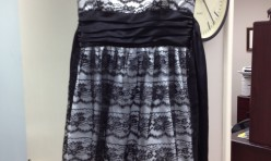 Black and White dress with lace overlay - size 9