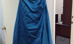 Teal Strapless Ball Gown - Size 14 & Size 16