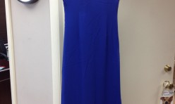 Royal Blue gown with beaded straps - Size 12