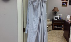 Silver flowy gown - Size 14