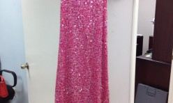 Glittery sequin pink  - Size 2